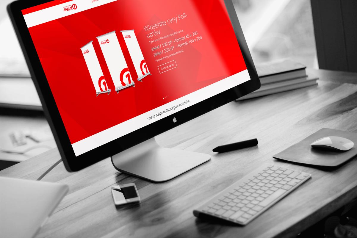 projekt strony www digital1