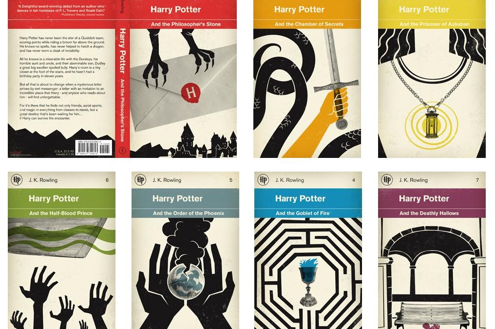 Okładki do serii książek Harry Potter